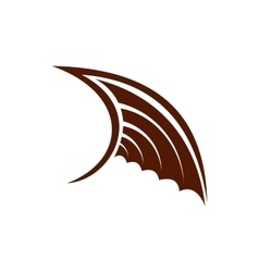 Brown birds wing icon flat style vector image vector image