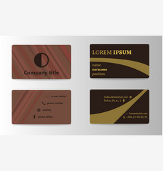 Business and visit card vector