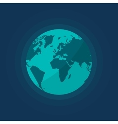 Earth globe from space isolated vector image vector image