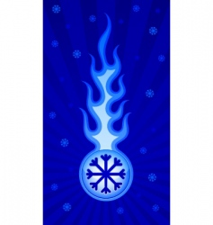 frosty flame vector image vector image