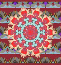 mandala pattern east islam thai indian ottoman vector image vector image