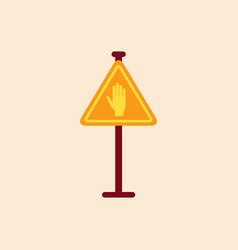 No entry hand sign traffic symbol vector