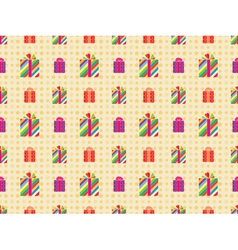 pattern with presents vector image vector image