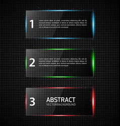 Transparent reflecting glass banners vector