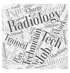 A Closer Look At Radiology Technician Jobs Word vector
