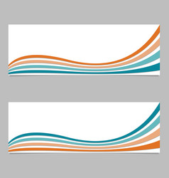 Abstract banner background from wave stripes vector