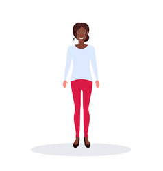 african american businesswoman standing pose vector image
