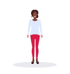 African american businesswoman standing pose vector