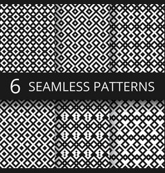 Arabic seamless ornamental patterns islam vector