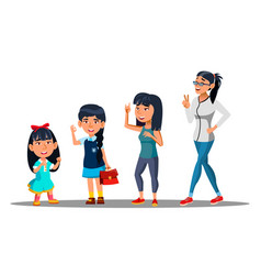 Asiatic generation female mother daughter vector