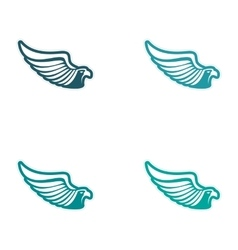 Assembly sticker eagle silhouette vector