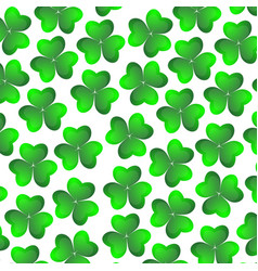 background of clover on a white background for the vector image
