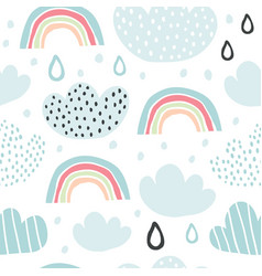 background with cute smiling cloud vector image