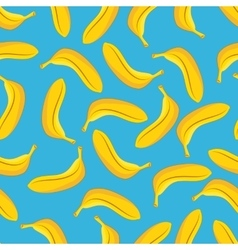 Banana seamless pattern blue background vector