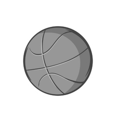 Basketball ball icon black monochrome style vector image