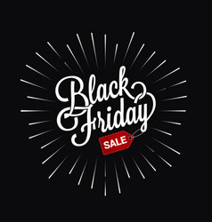 Black friday logo star burst design background vector