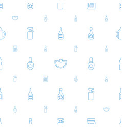 Bottle icons pattern seamless white background vector