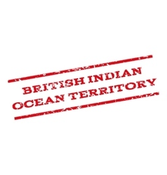 British Indian Ocean Territory Watermark Stamp vector