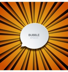 Bubble speech on striped background vector