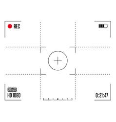 camera frame viewfinder vector image
