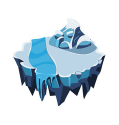 cartoon isometric icy island for game vector image