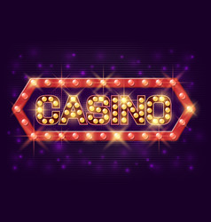 casino poster vintage style casino banner vector image