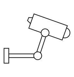 Cctv camera icon outline style vector