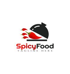 Chili logo designhotspicy food icon vector