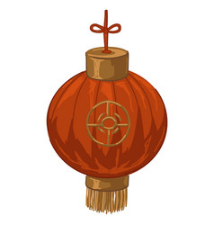 chinese lantern with thread and ornament vector image