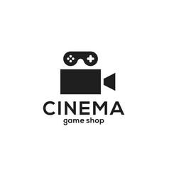 Cinema game logo icon vector