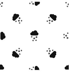 Cloud and hail pattern seamless black vector