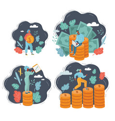 concept money saving and people vector image