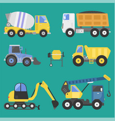 Construction delivery truck transportation vehicle vector