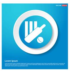 Cricket bails icon abstract blue web sticker vector