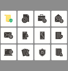 data security icon set isolated on vector image