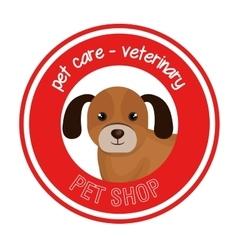 dog pet shop icon vector image