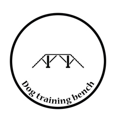 Dog training bench icon vector