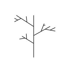 dry halloween tree icon vector image