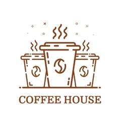 Emblem concept coffee house vector