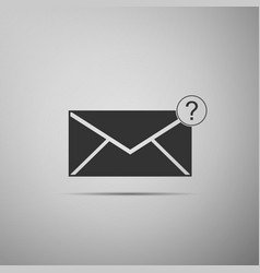 Envelope with question mark icon isolated vector