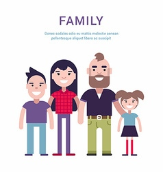 Family concept flat style father mother son and vector