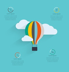 Flat design of the startup process cloud storage vector image
