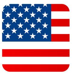 Flat flag united states america vector