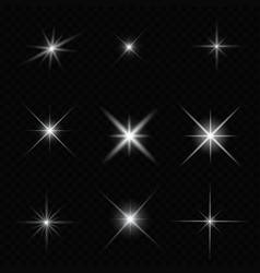 Glare star sparkling vector