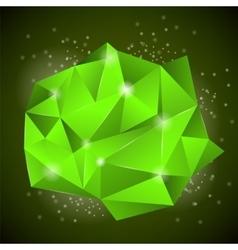 Green Polygonal Stone vector