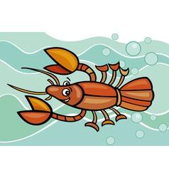 Happy crayfish cartoon vector