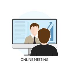 Icon online meeting vector