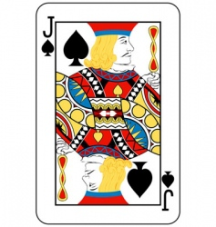 Jack of spades vector