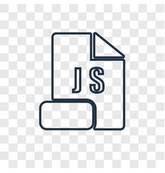 Js concept linear icon isolated on transparent vector