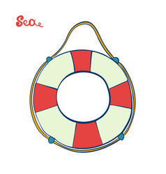 lifebuoy isolated symbol of salvation and help vector image